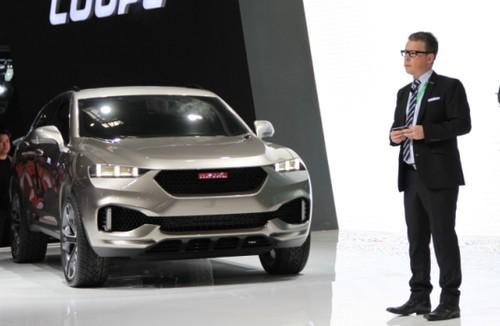 coupe是一款引领未来哈弗运动系列造型方向的准概念车型,由长城汽车国